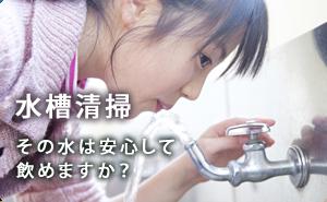 水槽清掃「その水は安心して飲めますか?」